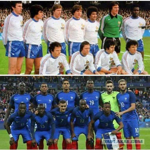 В французской сборной негры