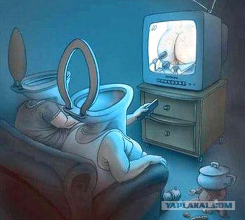 Картинки по запросу телевизор засирает мозги