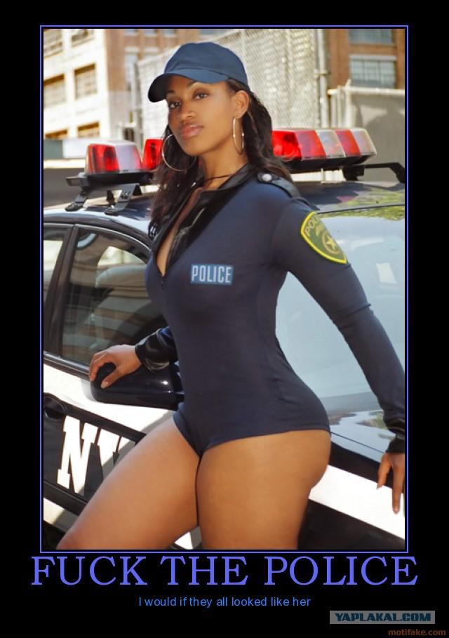 Naked female officer gets bent over her cruiser