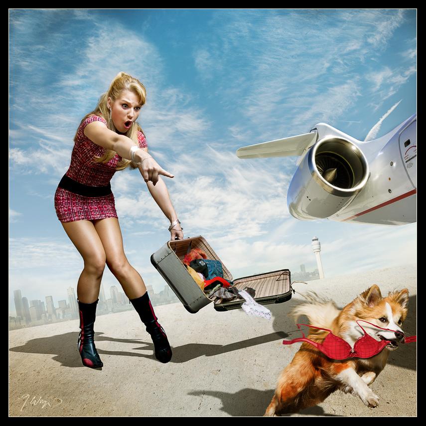 Смешные картинки девушка чемодан