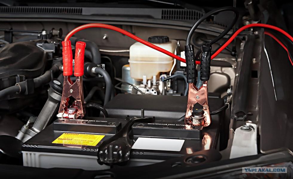 Как зарядить аккумулятор от другой машины