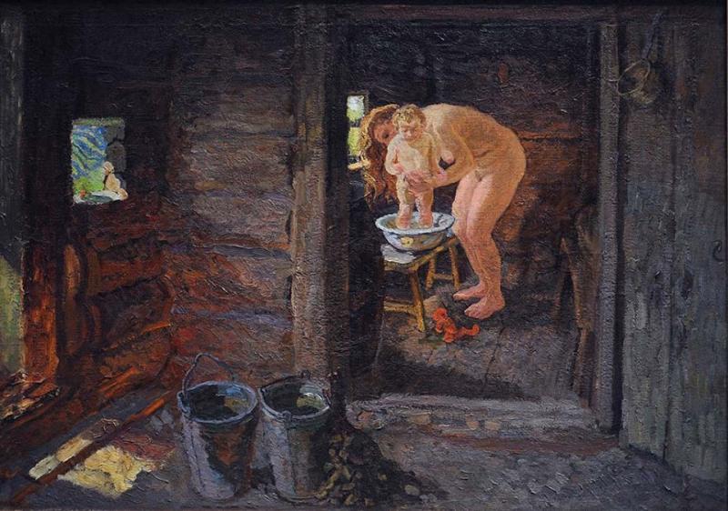 Женщина в деревенской бане — photo 8