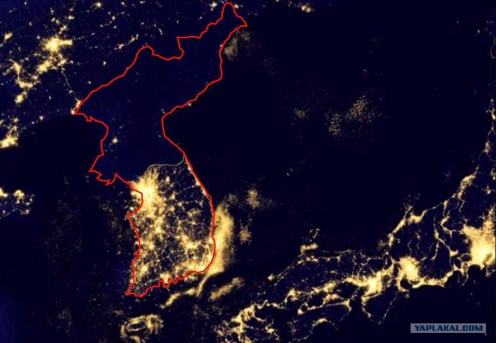 звездном фото из космоса северной и южной кореи плетение