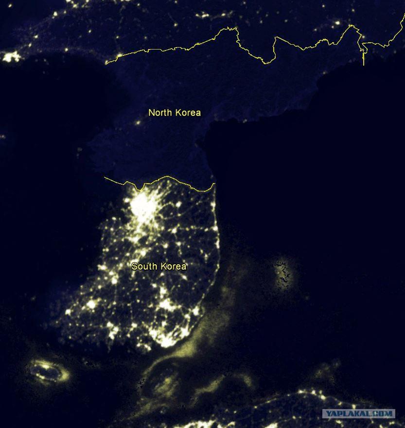 северная корея фото со спутника вас интересует данная