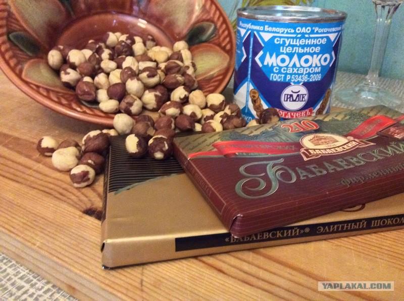 Намазать на член шоколад