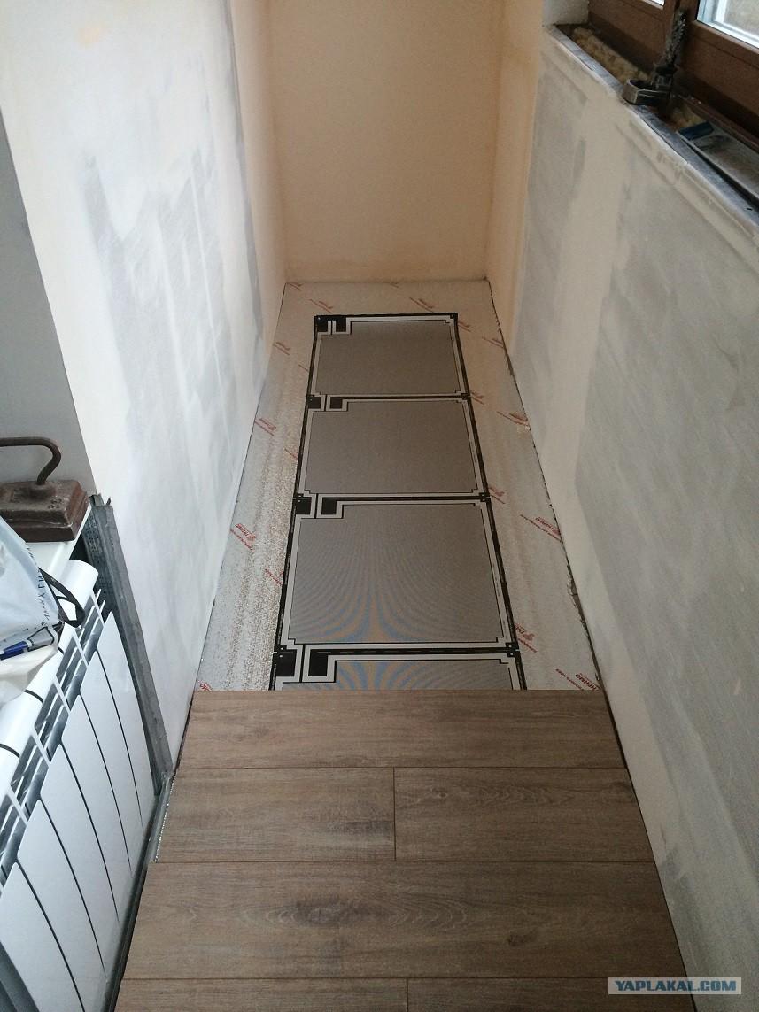 Теплый пол на балконе (разновидности и особенности монтажа).