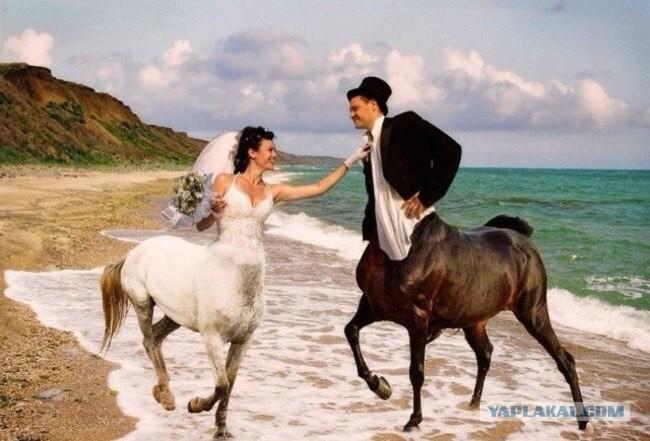 Свадебные  трэш