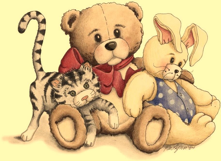 Открытки с медвежатами и котятами