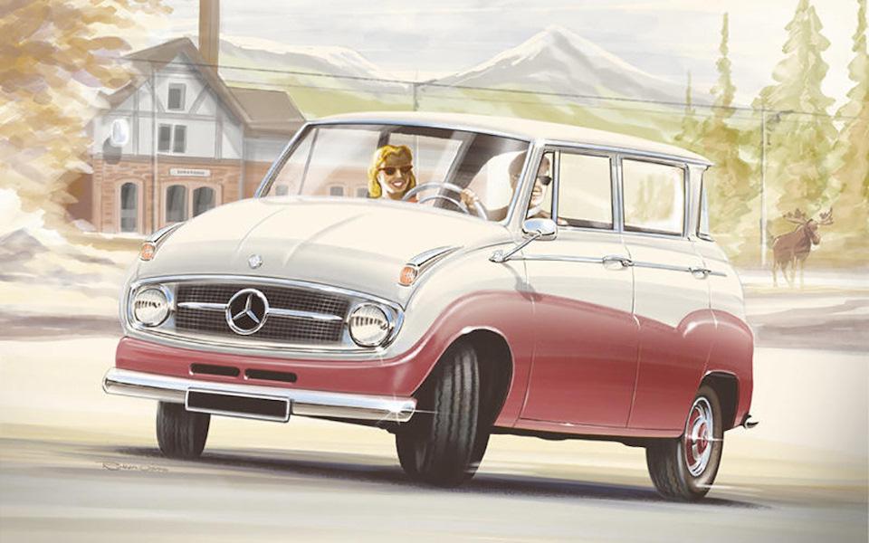 Назад в будущее, или как выглядели бы современные машины на несколько десятилетий раньше?