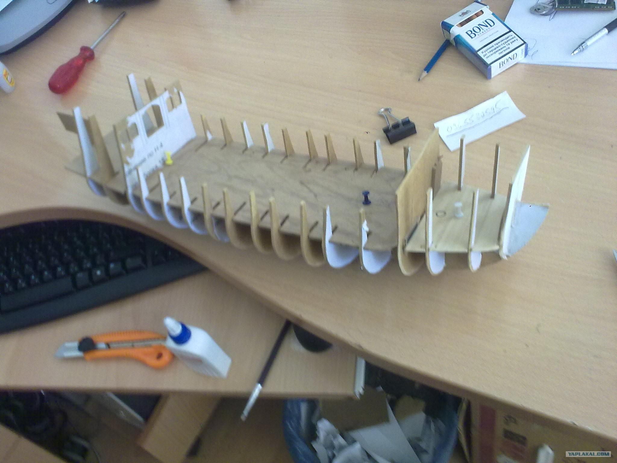Как сделать модель корабля из картона  чертежи 8