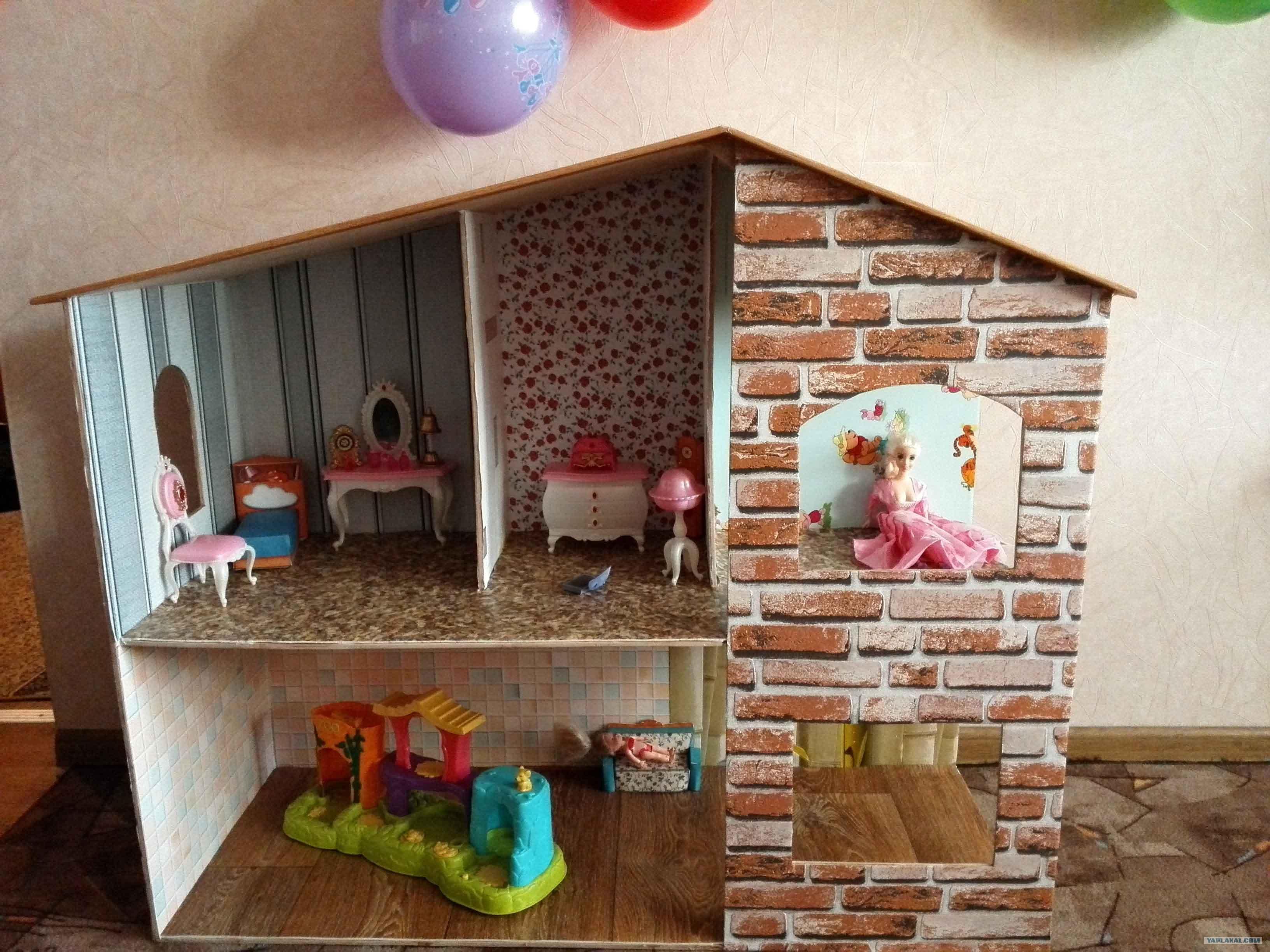 схема сборки кукольного домика