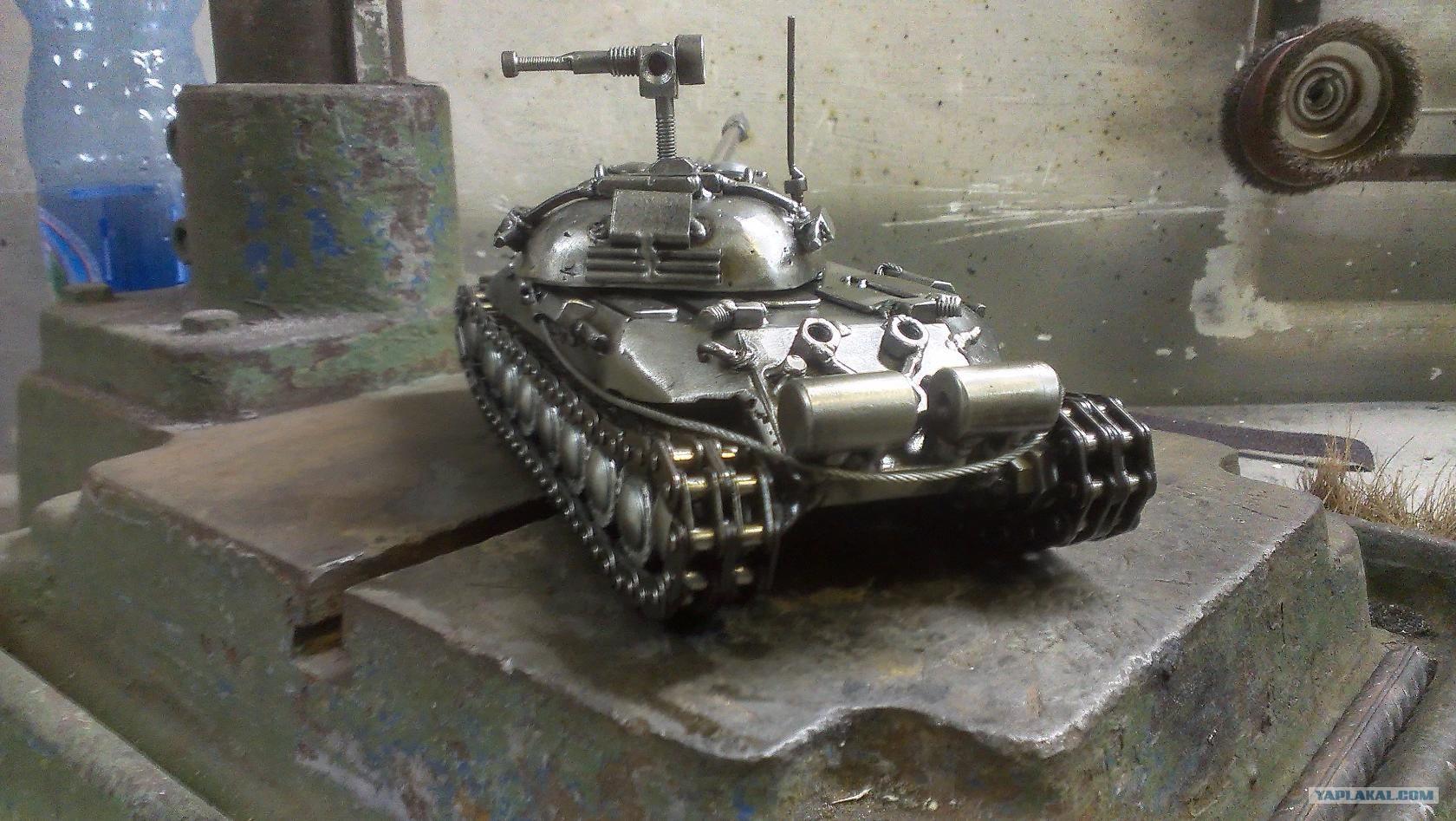 Модели танка своими руками из металла