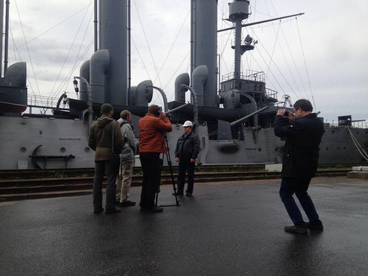 Съемок порнофильма на борту авроры