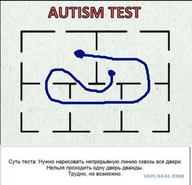 Картинка тест на аутизм