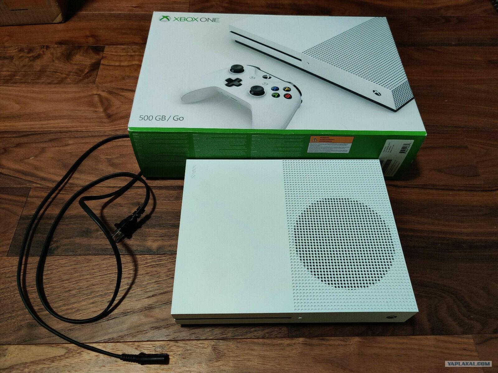 Xbox ONE S 500GB белый, идеал сост. мало бу Москва - ЯПлакалъ