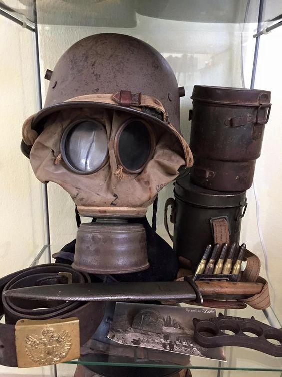 Маски,броня и оружие Первой мировой