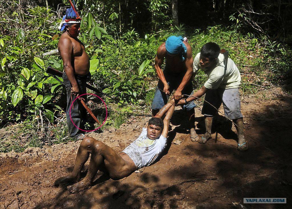 Секс с индейцами в амазонке