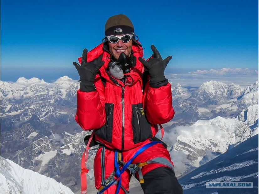 эверест фото с вершины альпинистов