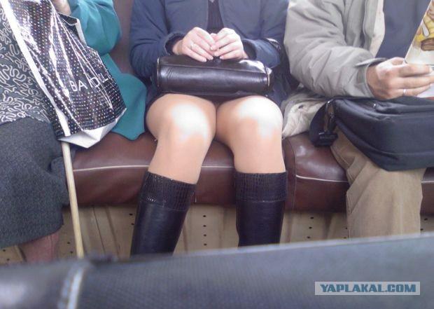 подсмотрели на общественном транспорте за девушками зрелые