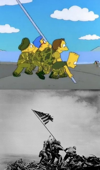 Жизнь в картинках: как Симпсоны воссоздали ключевые моменты мировой истории