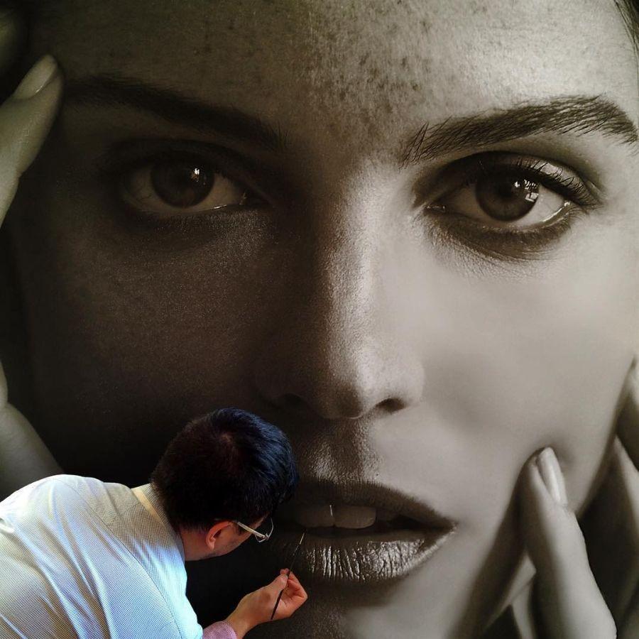 профилем современный реализм в фотографиях изображение лицевой