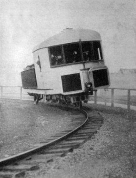 Прототип монорельса гироскопа Луи Бреннана, Англия, 1907 г.