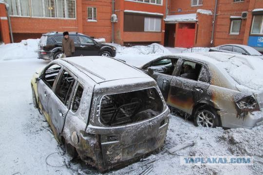 Поджог авто. Харьков.