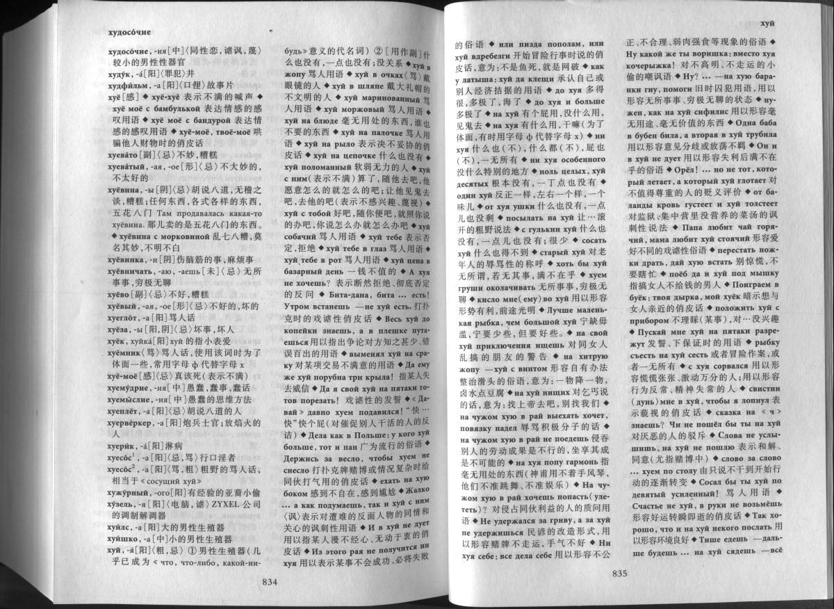 Перевод слова хуй с китайского