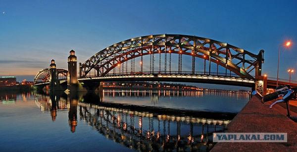 Мост Петра Великого Большеохтинский Фото Петербурга