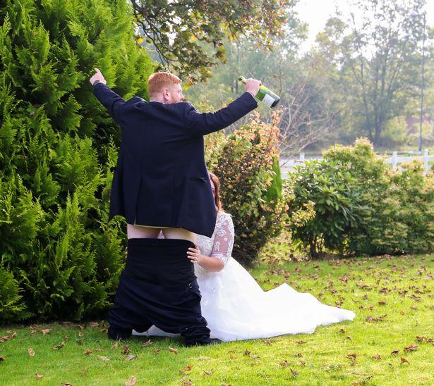 Праздничный минет - отличная идея для свадебного альбома