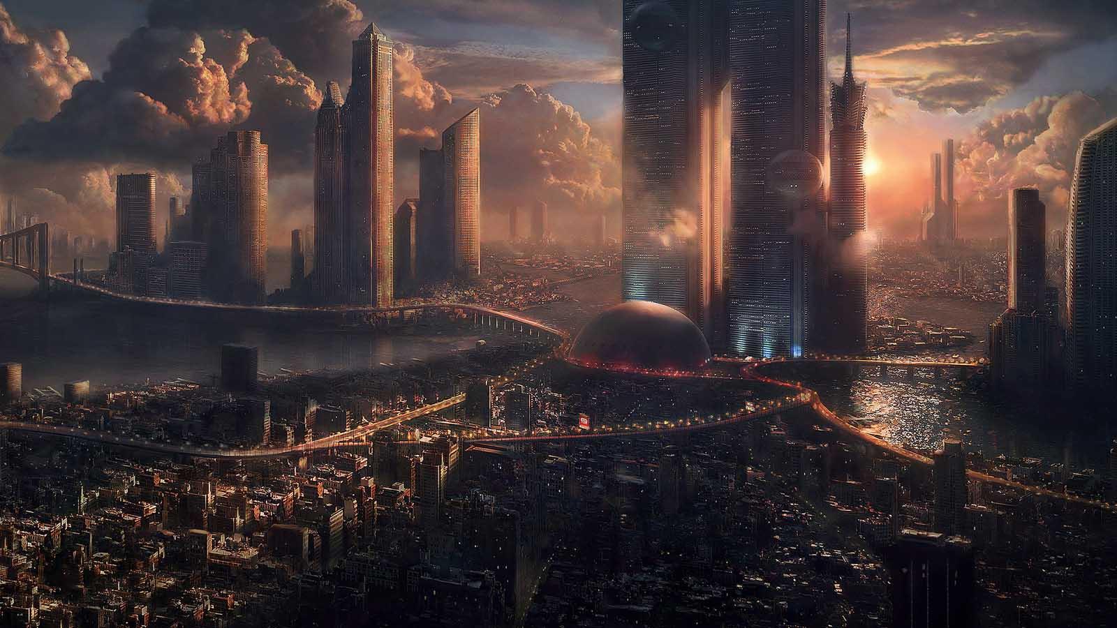 арты города будущего