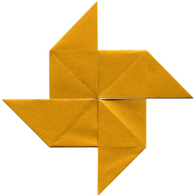 Схема оригами вертушки