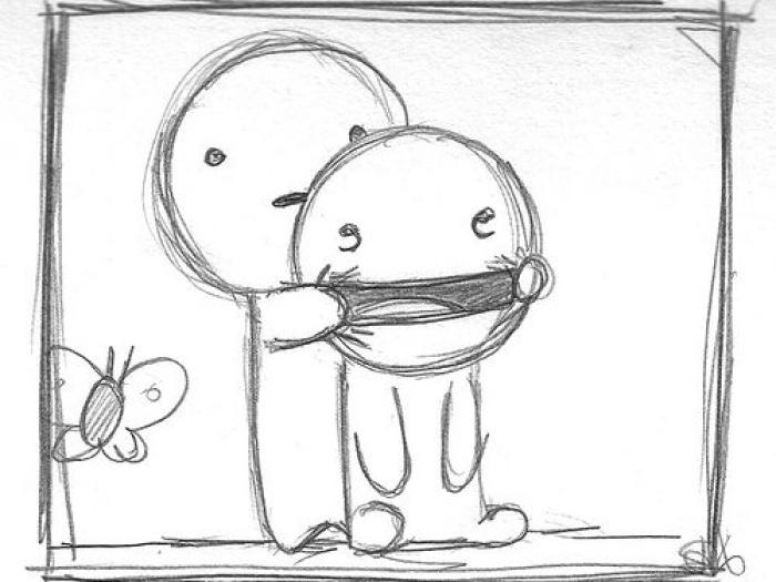 Как нарисовать прикольный рисунок своему другу