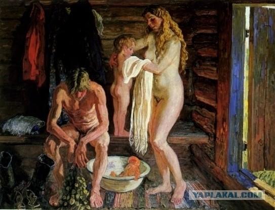 Женская помывка в деревенской бане фото 457-936
