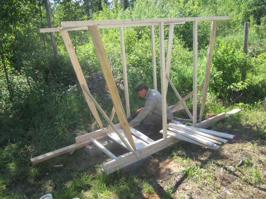как построить сортир на даче своими руками поэтапно фото