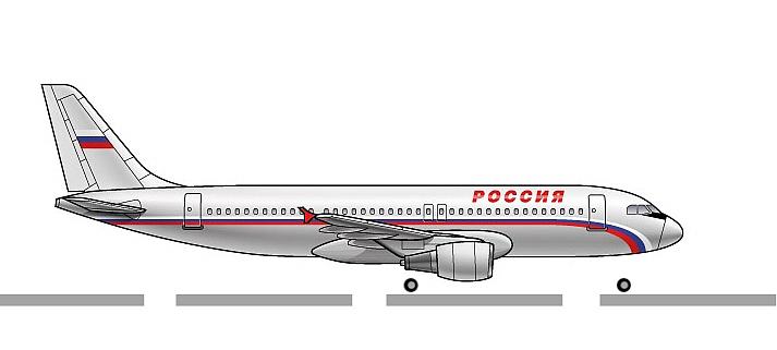 Анимация самолета для презентации