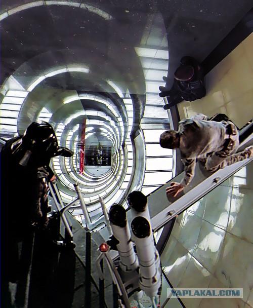Оптическая иллюзия в московском метро