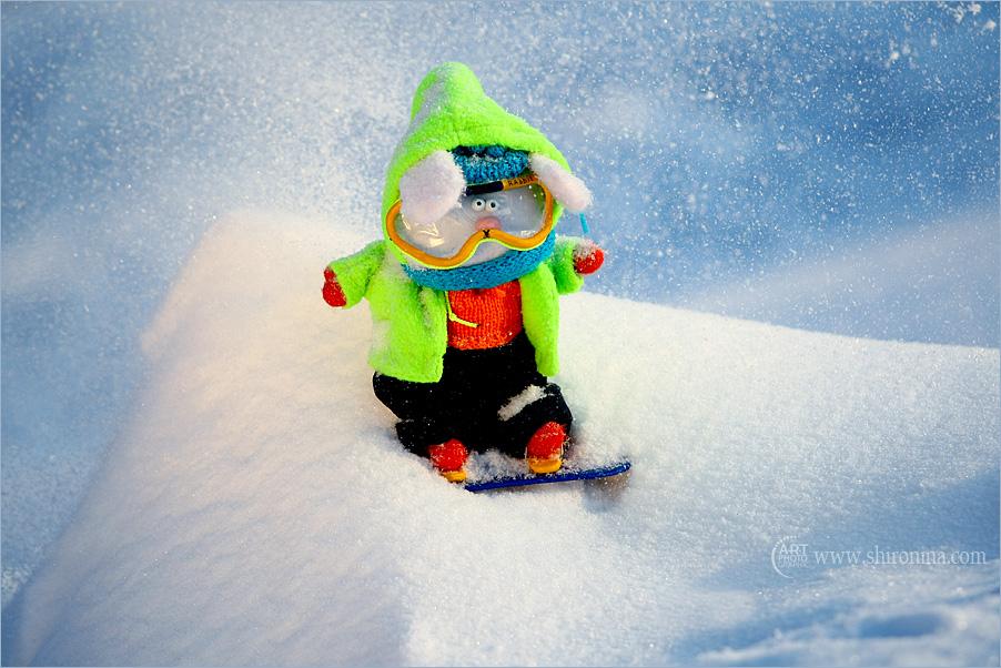 Прикольная картинка сноубордиста