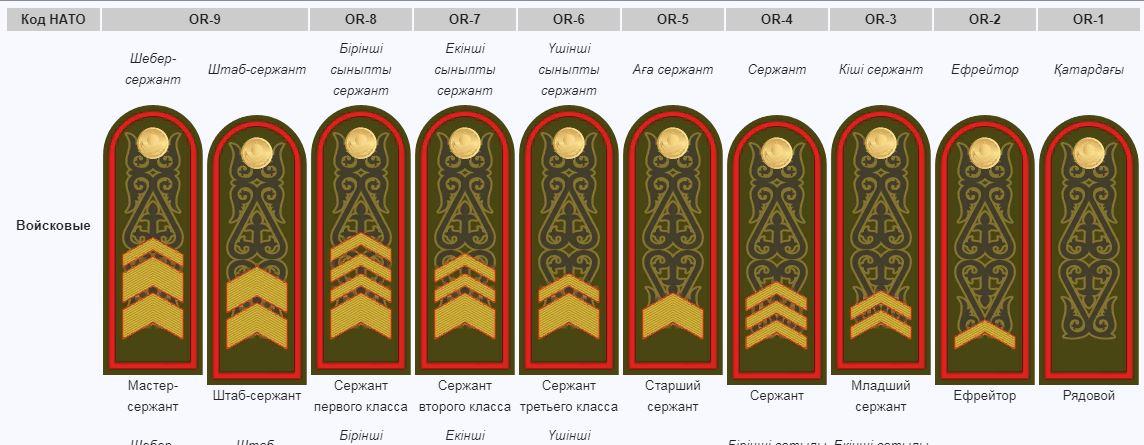 недугом сталкивается воинские звания в казахстан в картинках противня бумагу