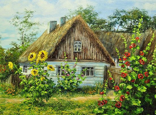 Деревенский домик картинка