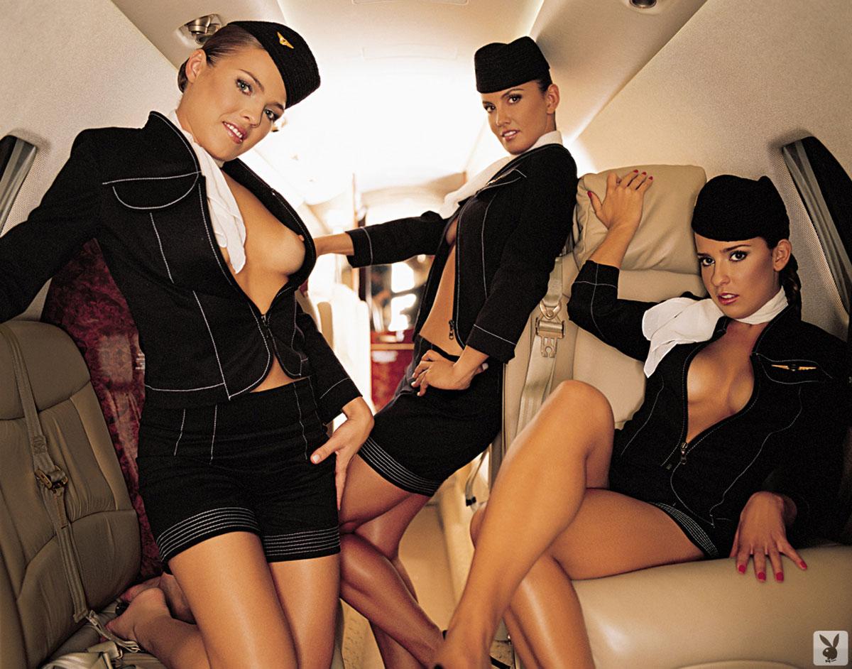 эротика развратные стюардессы куча голых девушек