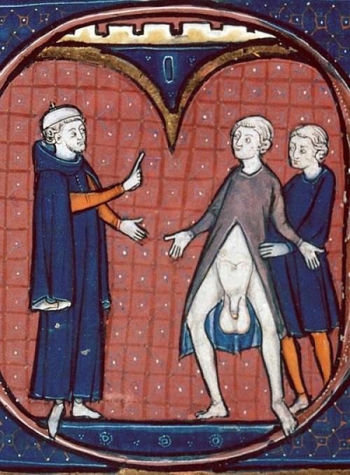 Средневековая картинка доктор это вам