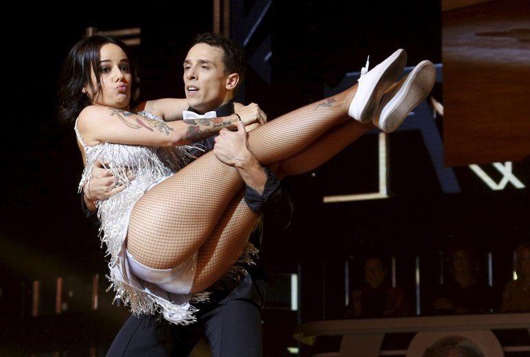 Ballroom dancing upskirt
