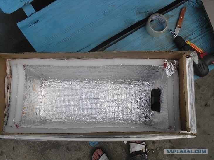 Холодильник из вентилятора своими руками