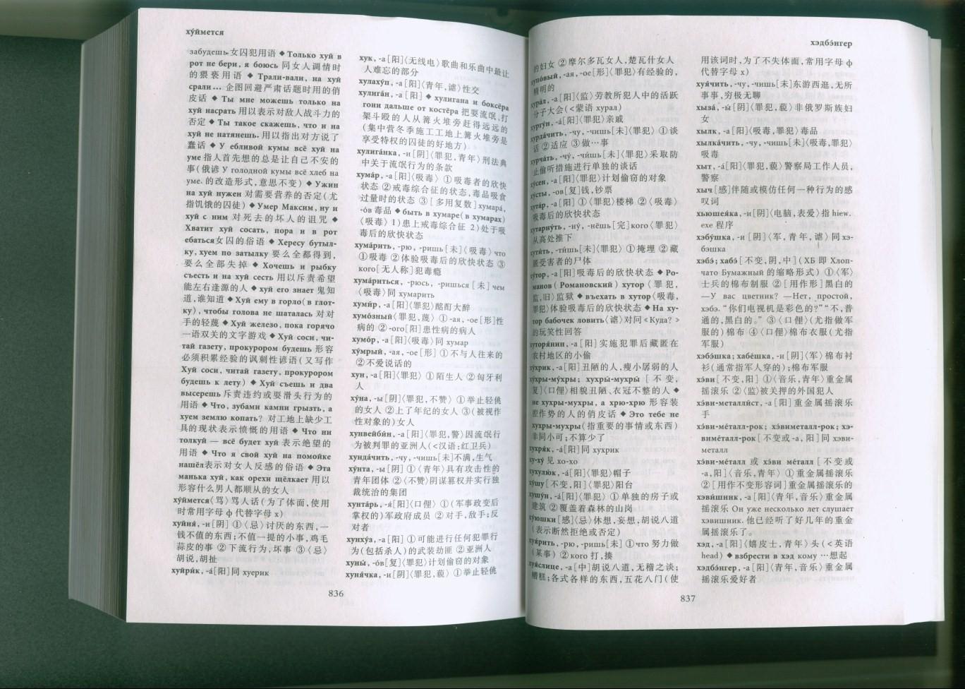 Слово хуй в русском словаре