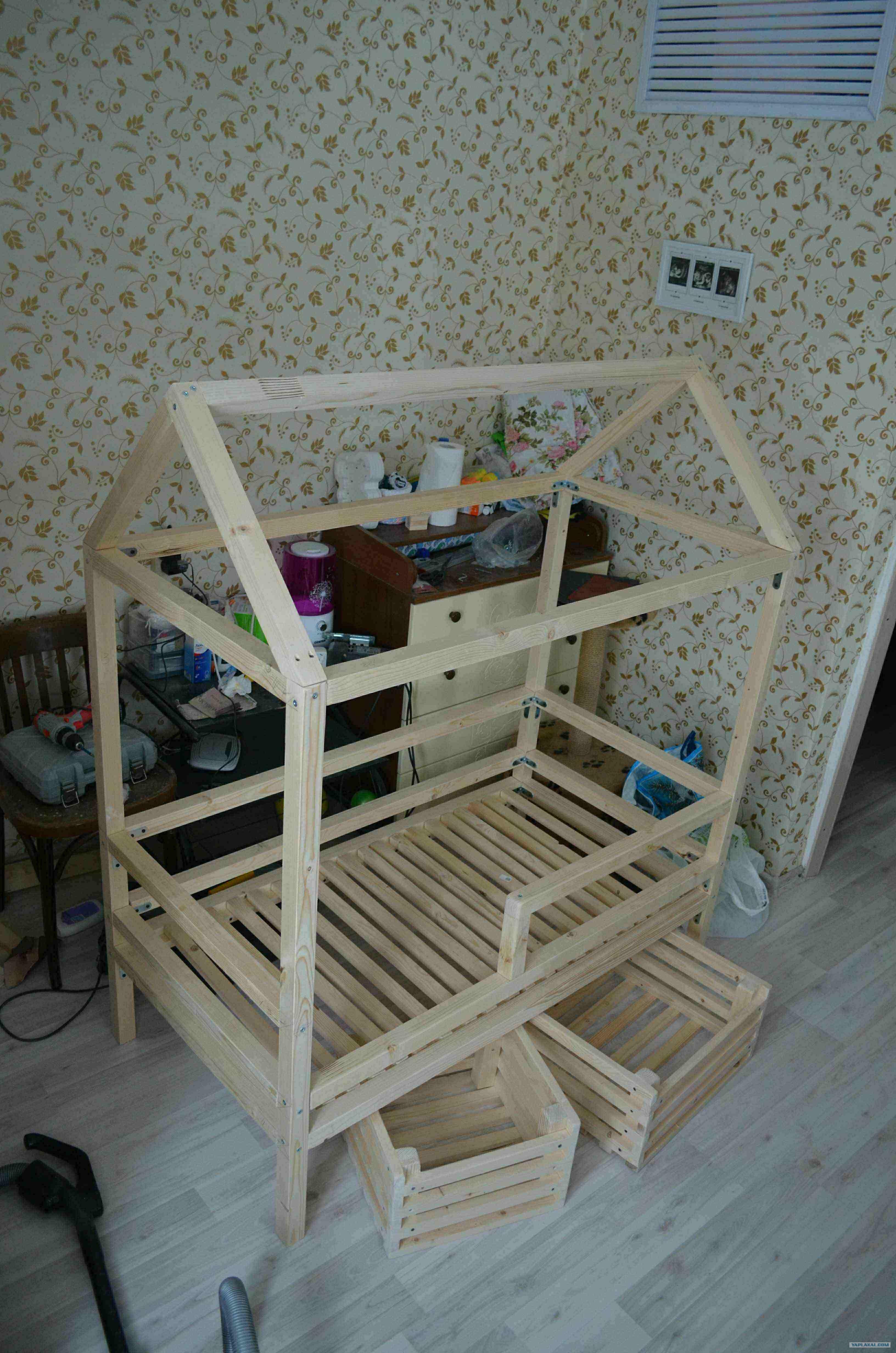 Кровать домик своими руками чертежи фото фото 681