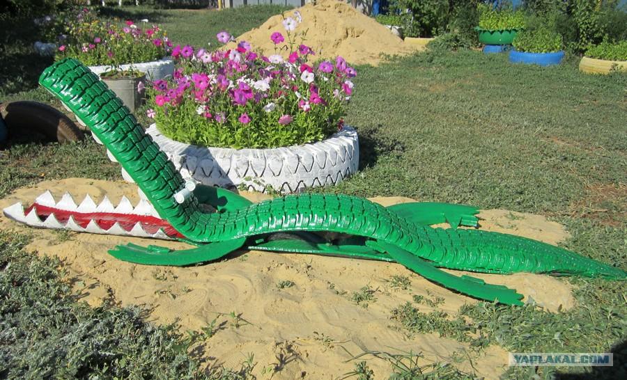 Крокодил - из покрышек своими руками / Мастерклассы
