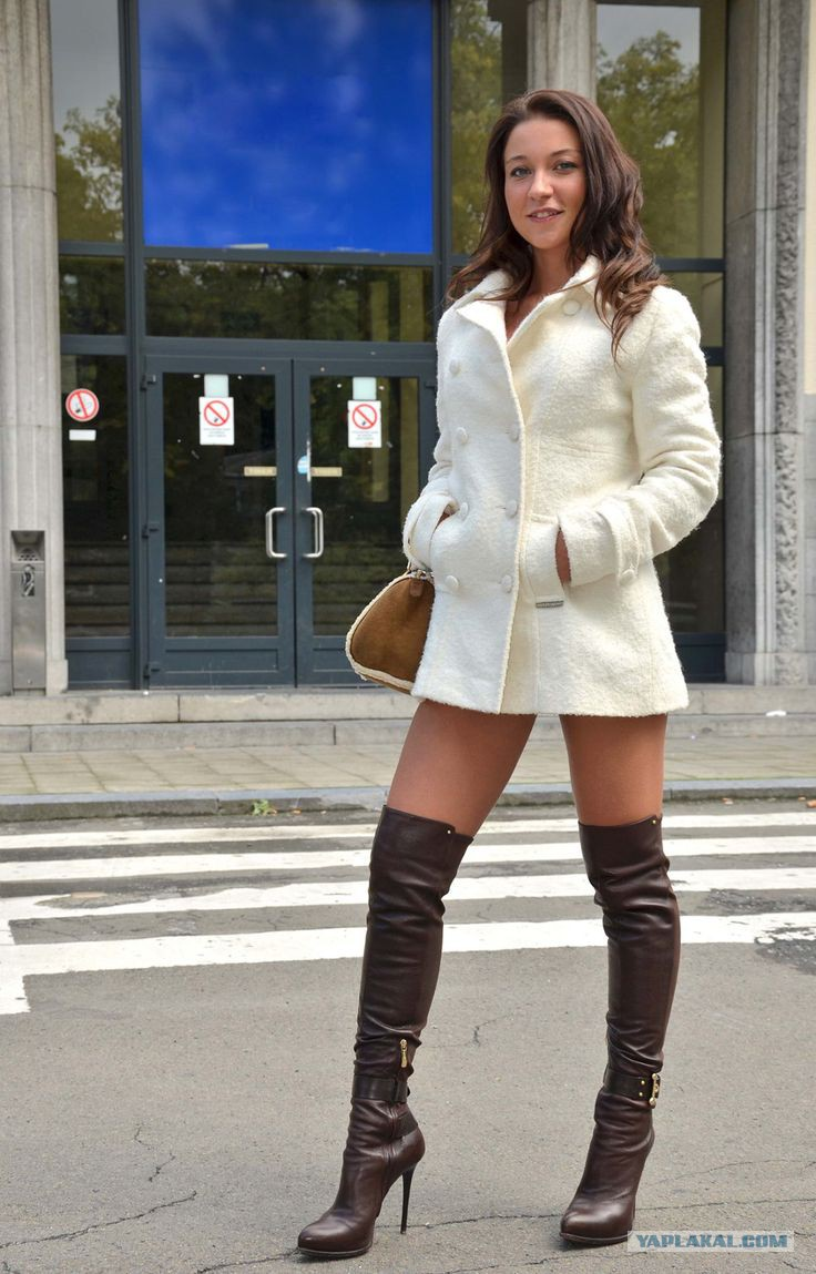Sarah mcdonald knee high boots and lingerie