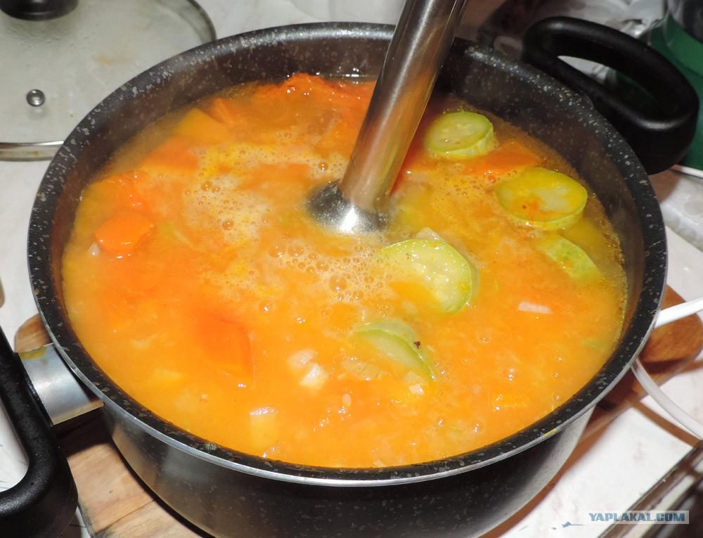 Суп пюре из тыквы с овощами рецепт