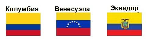Флаги стран, очень похожие друг на друга.
